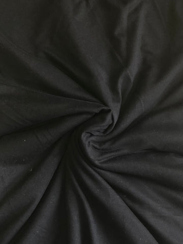 Black. Double Brushed Poly Knit Fabric. BP-668-BLK.