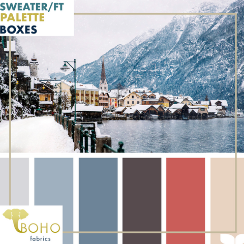 """Seaside Winter""  Sweater/French Terry Knit Palette Bundle"
