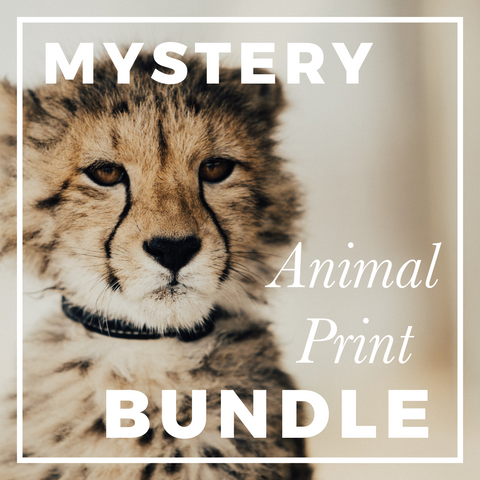 Mystery Animal Print Fabric Bundle; ALL PRINTS