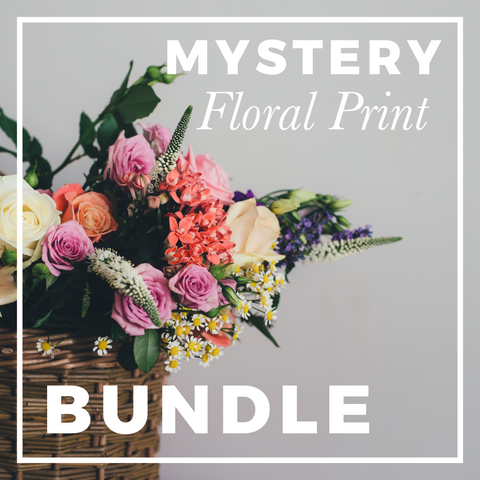 Mystery FLORAL Print Fabric Bundle; ALL PRINTS
