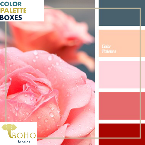 """Dew Drop Roses"", Mystery Color Palette Box."