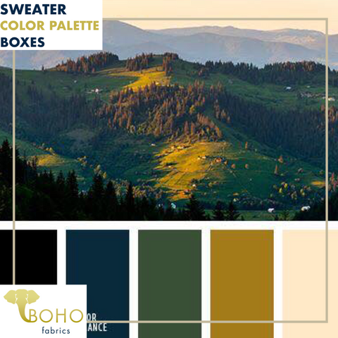 """Green Mountain""  Sweater/French Terry Knit Palette Bundle"