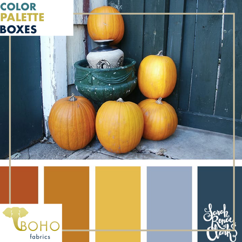 """Teal & Pumpkin"", Mystery Color Palette Box."