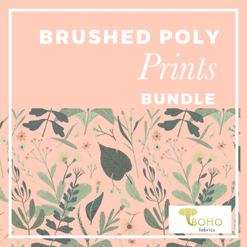 Brushed Poly Prints Fabric Bundle - ALL PRINTS!