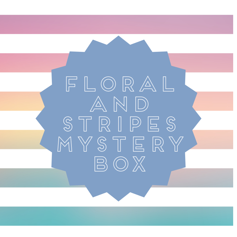 Floral & Stripes Mystery Bundle Box, 8 Yards of Fabric
