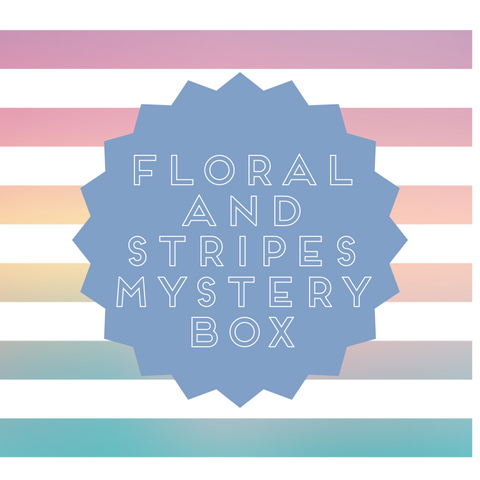 Floral & Stripes Mystery Bundle Box, 8 Yards of Fabric.  CB-37