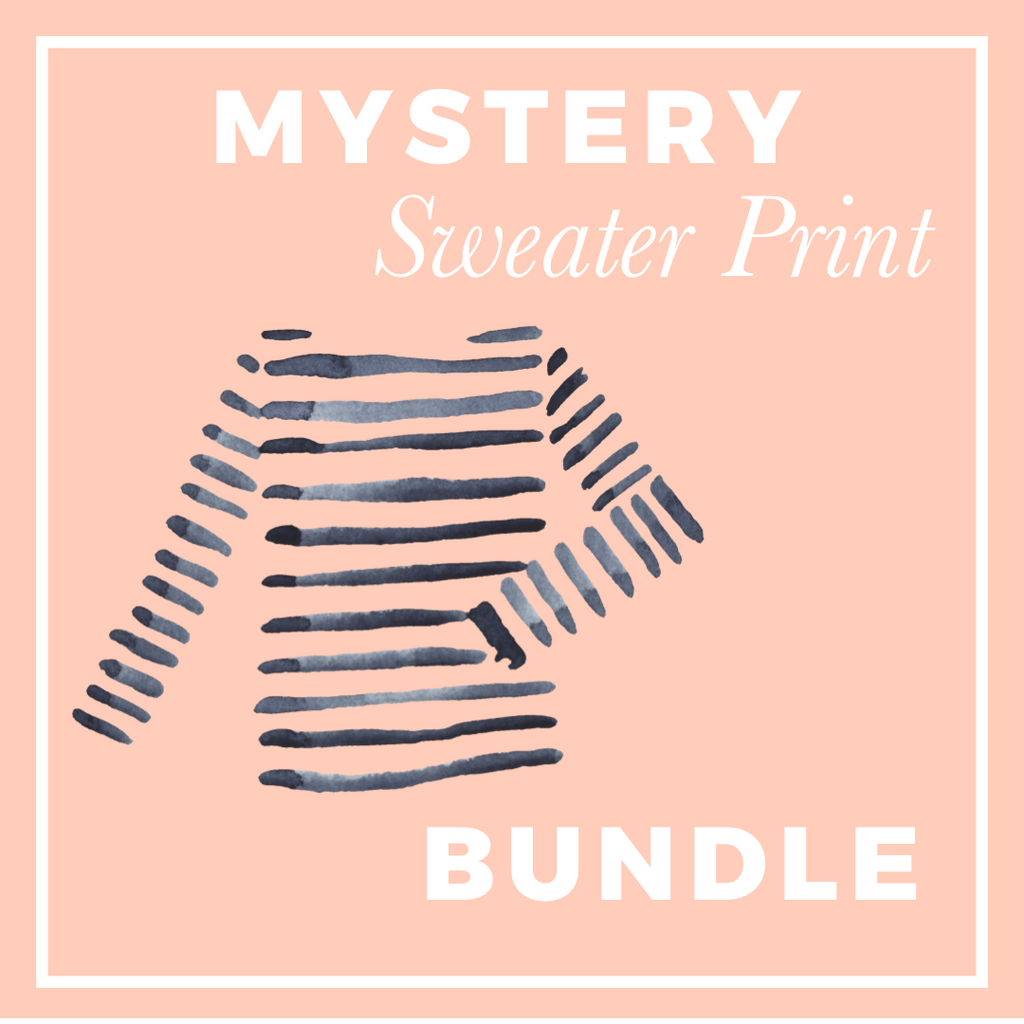 Mystery Sweater Print Fabric Bundle; ALL PRINTS & ALL KNITS!  CB-32