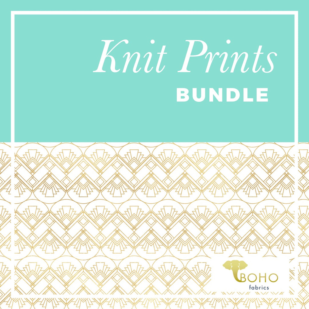 Knit Prints Fabric Bundle - ALL PRINTS!  TAG SALE SPECIAL!