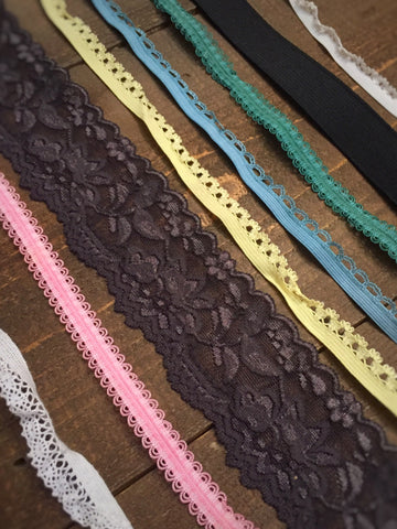 20 Yards of Stretch Lace & Elastic Bundle