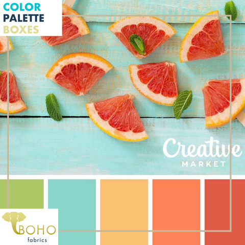 """Blood Orange & Mint"", Mystery Color Palette Box."