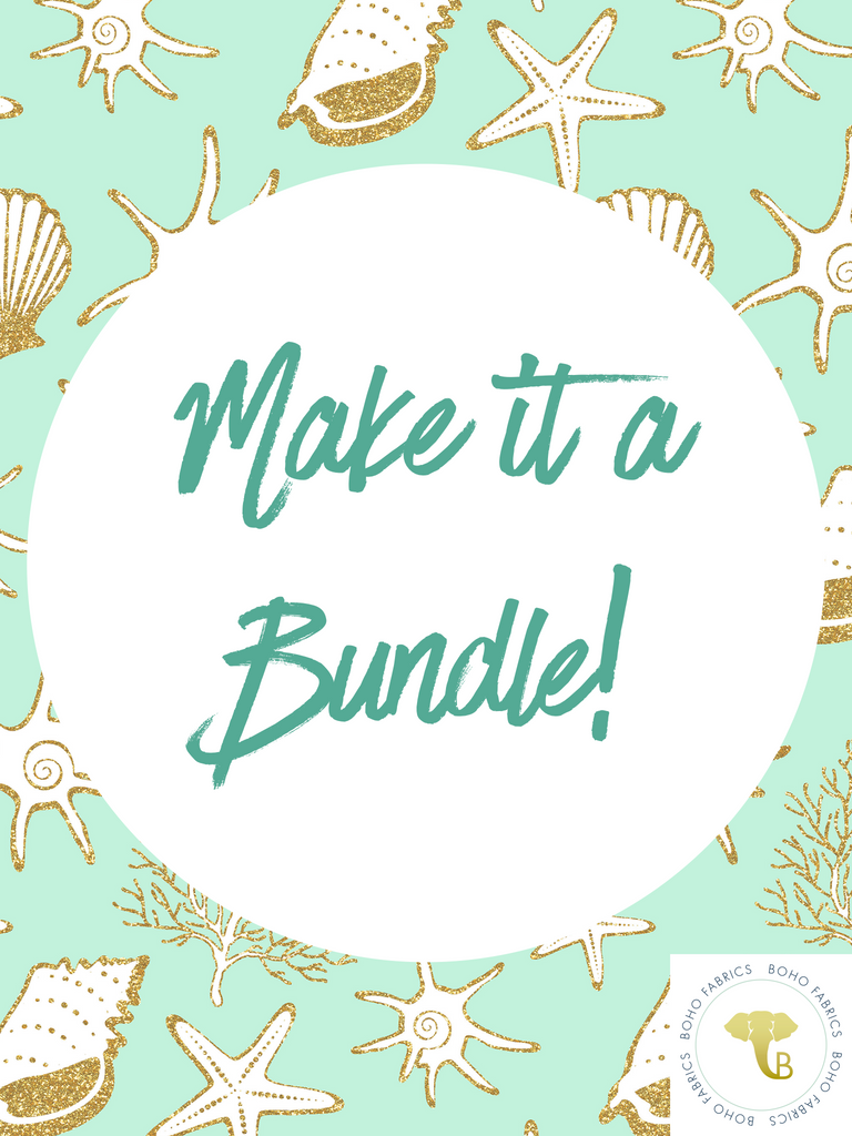 Swim - Make It A Bundle!  Add-on for Prints.  Bundle will include Coordinating Swim Solid, Swim Lining and 3 yards Swim Elastic.