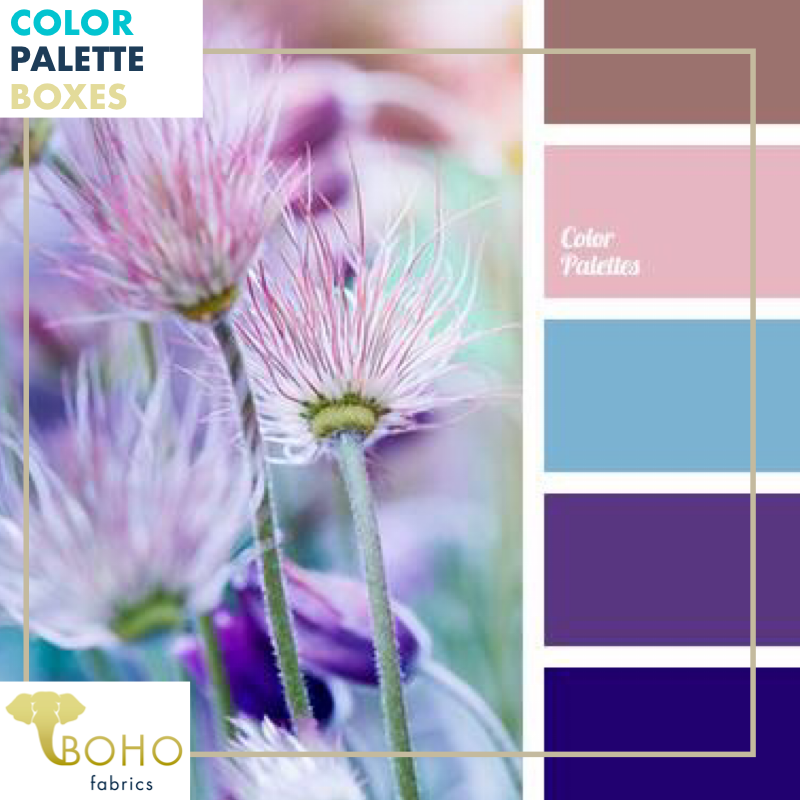 """Purple Wildflowers"", Mystery Color Palette Box."