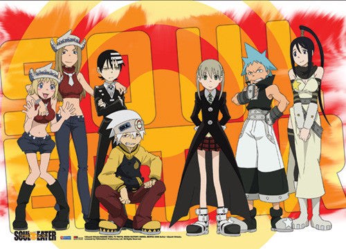 SOUL EATER RED SPLASH GROUP WALL SCROLL | SKYFOX GAMES