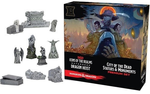 5e Icons of the Realms Waterdeep Dragon Heist City of the Dead Statues & Monuments Premium Set | SKYFOX GAMES