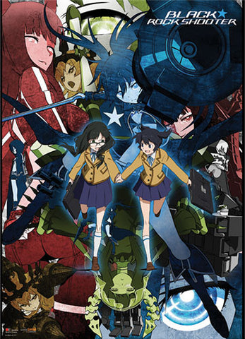 BLACK ROCK SHOOTER COLLAGE WALLSCROLL