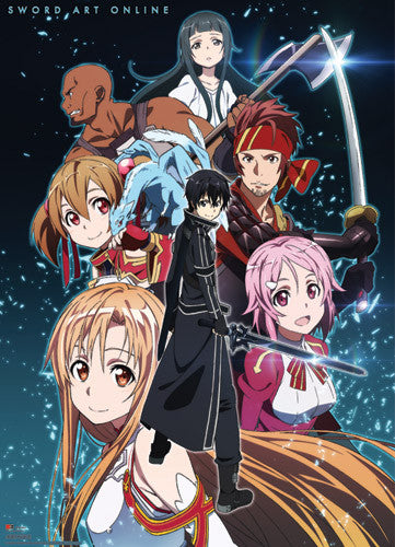SWORD ART ONLINE GROUP SHOT WALL SCROLL | SKYFOX GAMES