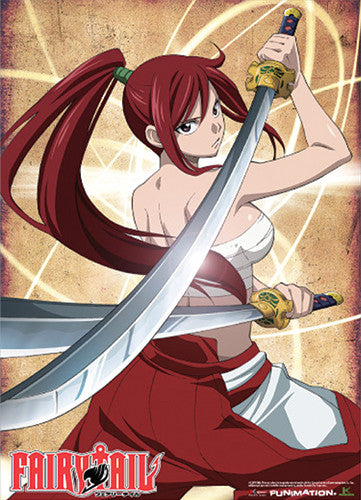 FAIRY TAIL ERZA WALL SCROLL | SKYFOX GAMES