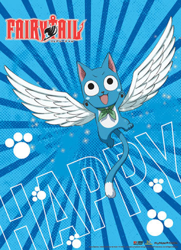 FAIRY TAIL - HAPPY SINGLE SHOT WALL SCROLL | SKYFOX GAMES