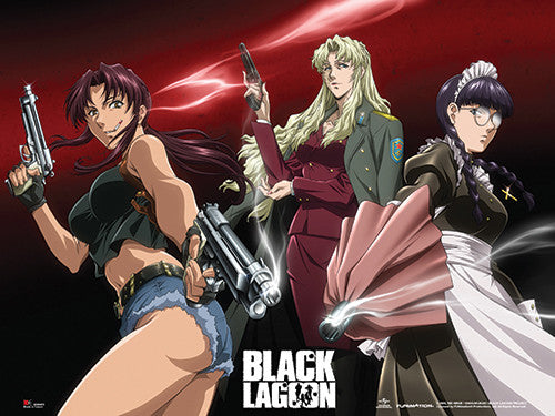 BLACK LAGOON - REVY, BALALAIKA & ROBERTA WALL SCROLL