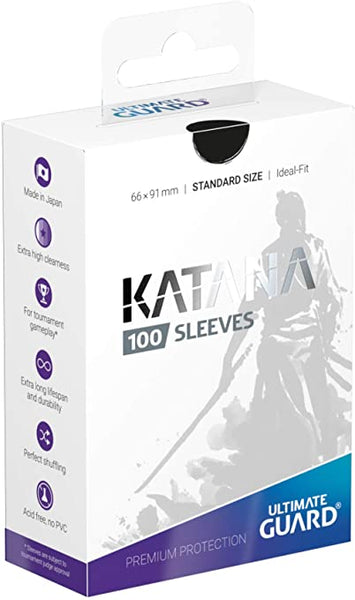 Black Standard Size Card Sleeves - Ultimate Guard KATANA [100 ct]