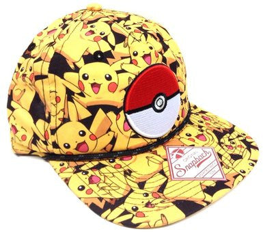 Pokemon - Pikachu Pokeball Snapback | SKYFOX GAMES
