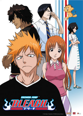 BLEACH ICHIGO & FRIENDS WALL SCROLL
