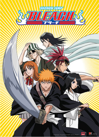 BLEACH ICHIGO TEAM WITH BYAKUYA & RENJI WALL SCROLL