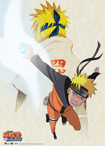 NARUTO SHIPPUDEN FATHER & SON WALLSCROLL | SKYFOX GAMES