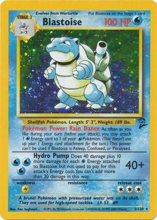 Blastoise Base Set 2 (Very Fine) 2/130
