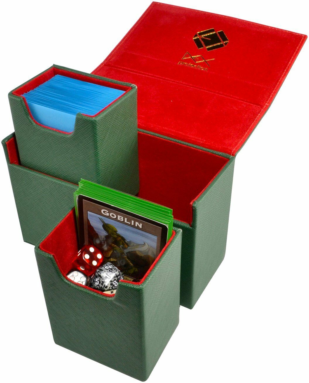 Dex Dualist Deck Box - Dual 120 Green | SKYFOX GAMES
