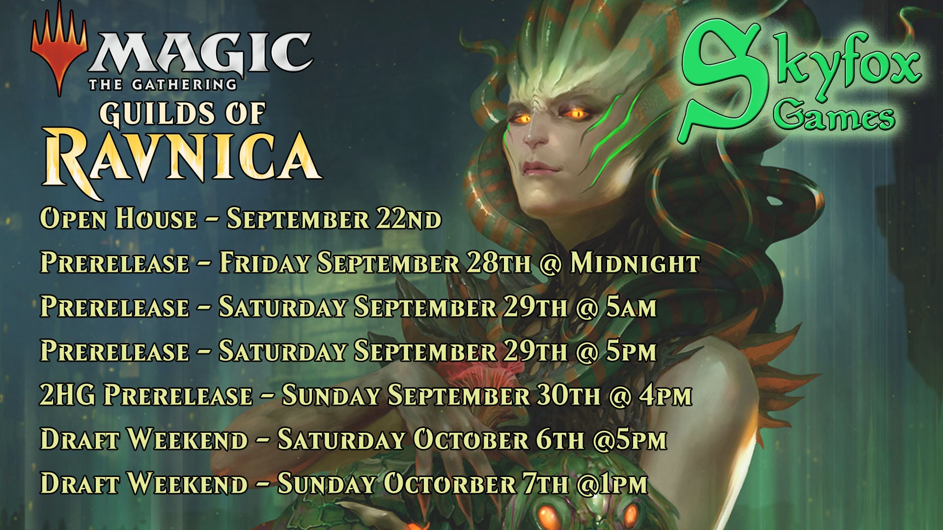 MtG: Guilds of Ravnica Prerelease - 4pm Sunday 2HG Preregistration | SKYFOX GAMES