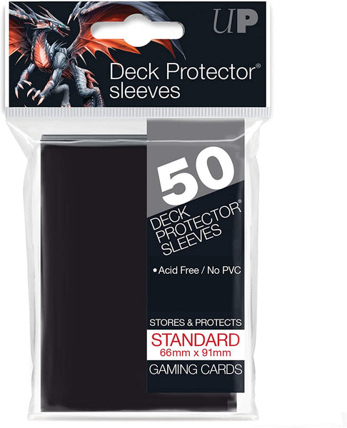 Ultra Pro Standard Card Sleeves - Black  [50 ct]