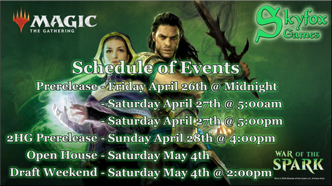 MtG: War of the Spark Prerelease - 5pm Saturday Preregistration