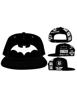 Batman - Bat Symbol (white) on Black Snapback