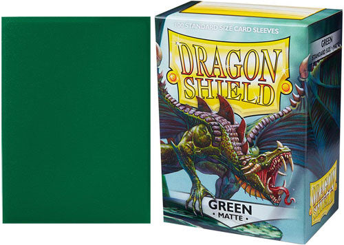 Green (Matte) Standard Size Card Sleeves - Dragon Shield  [100 ct]