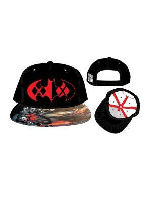 Marvel - Batman Logo with Harley Quinn Pattern Snapback | SKYFOX GAMES