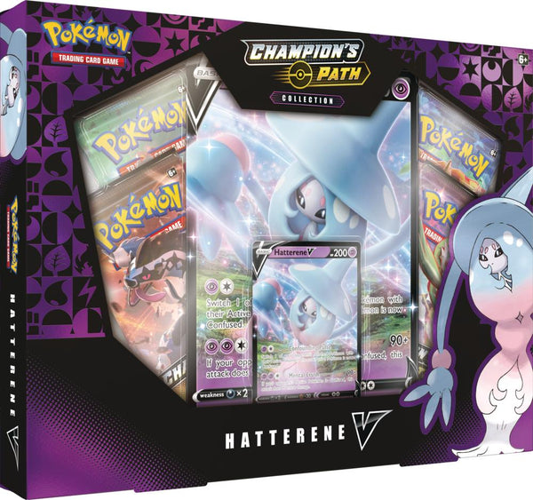 Pokemon - Champion's Path Hatterne V Collection (Pre-Order Sept 25th, 2020)