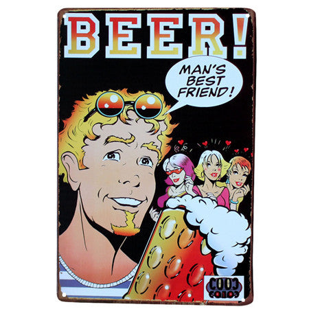 Drink Good Beer With Friends Wall Poster 2030CM Metal Tin Sign Pub Club