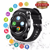 2018 Best Bluetooth Android Smart Watch Touch Screen Sleep Monitor Fashion Cell Phone Smartwat for Kids Men Women Smat Watch - reyes shop store