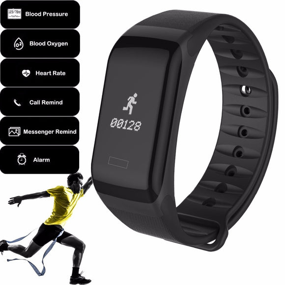 2018 Best Heart Rate Monitor Bluetooth Smart Band Sports Bracelet for Men & Women Android Blood Pressure Measurement Smartband - reyes shop store