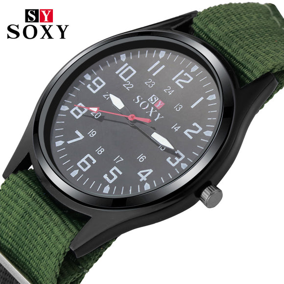 2018 Fashion Wrist Watch SOXY Luxury Brand Male Quartz Watch Sale Items Boys Designer Military Watches Men Montre Homme - reyes shop store