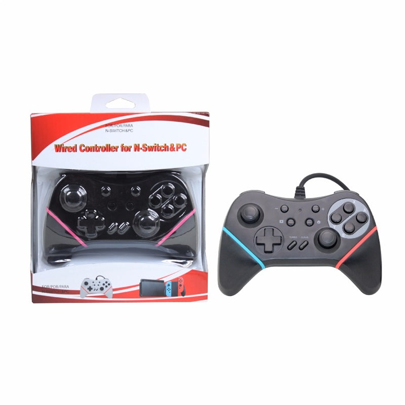 3 color USB Wired Controller Gamepad For Nintend Switch NS Built-in 6-axis  sensor Support Switch PC Games Play With TURBO Button