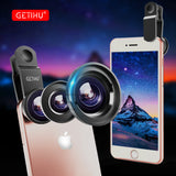 3 in 1 Wide Angle Macro Fisheye Lens Kit + Clip Smartphone Mobile Phone lenses Fish Eye for iPhone X 8 6S 6 s Plus Camera Lentes - reyes shop store
