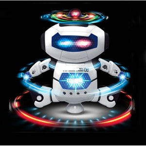 360 Rotating Smart Space Dance Robot Electronic Walking Toys With Music Light For Kids Astronaut Toy Christmas Birthday Gift - reyes shop store