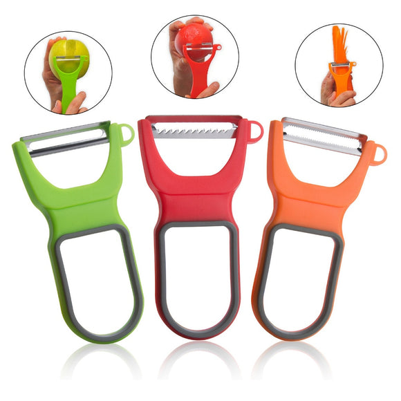 3Pcs/Set Originality Fruit vegetables peeler knife household plastic Gadget peeling portable Home Kitchen Tools accessories