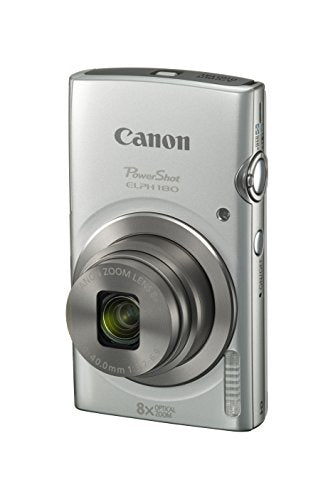 Canon PowerShot ELPH 180 Digital Camera w/Image Stabilization and Smart AUTO Mode (Silver) - reyes shop store