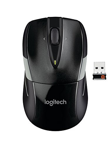Logitech M525 Wireless Mouse – Long 3 Year Battery Life, Ergonomic Shape for Right or Left Hand Use, Micro-Precision Scroll Wheel, and USB Unifying Receiver for Computers and Laptops, Black/Gray