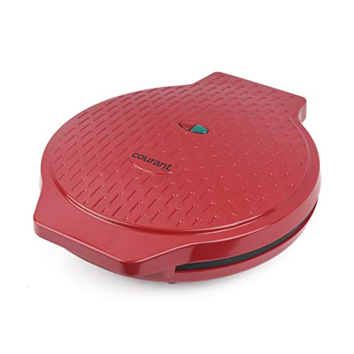 Courant Precision Non-Stick Pizza Maker Machine For Home, Calzone Maker, Pizza oven in Red
