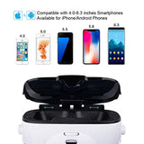 Canbor VR Headset with Controller Remote, Virtual Reality Headset 3D VR Goggles Glasses Compatible with 4.0-6.3 Inches Apples iPhone Samsung Sony More Android Phones
