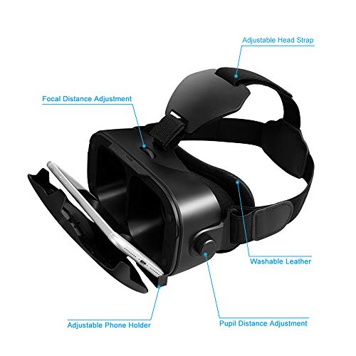 54a7fceafdb ... Canbor VR Headset with Remote Controller Virtual Reality Headset VR  Goggles for 3D Movies and Games ...